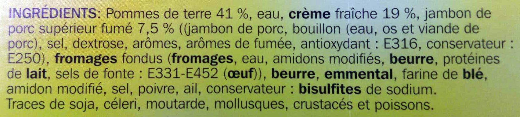 Gratin dauphinois au jambon - Ingrediënten - fr