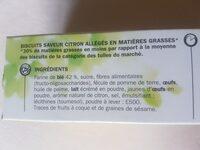 Tuiles citron - Ingrédients