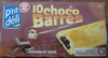 10 choco barres chocolat noir - Product