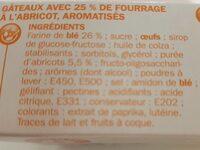 Gâteaux fourrage abricot x 7 - Ingrédients
