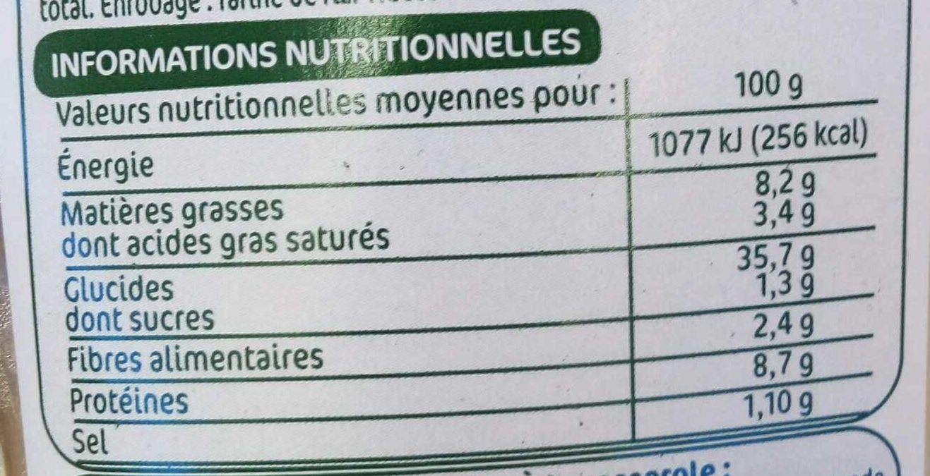 Demi-lunes cèpes - Voedingswaarden