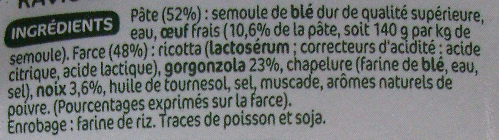 Ravioli gorgonsola noix - Inhaltsstoffe - fr