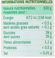 Confiture de Fraise Allégée en sucres - Voedingswaarden - fr