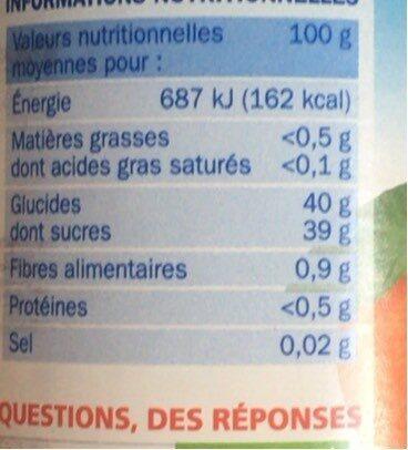Les allégées en sucres Marmelade d'orange - Nutrition facts - fr