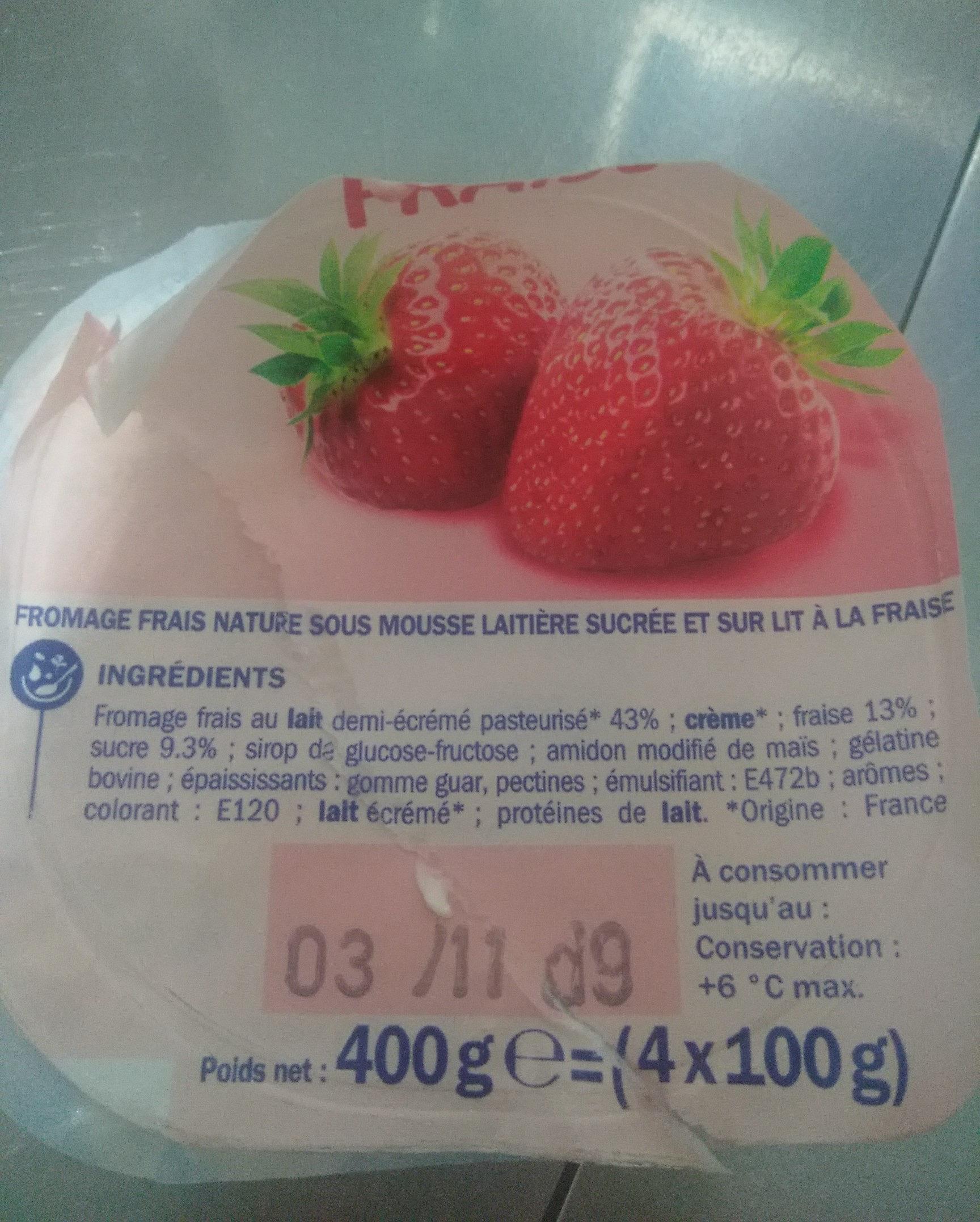 Duodélisse sur lit de fraise - Ingrediënten