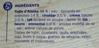 Colin d'Alaska à la Florentine - Ingrediënten