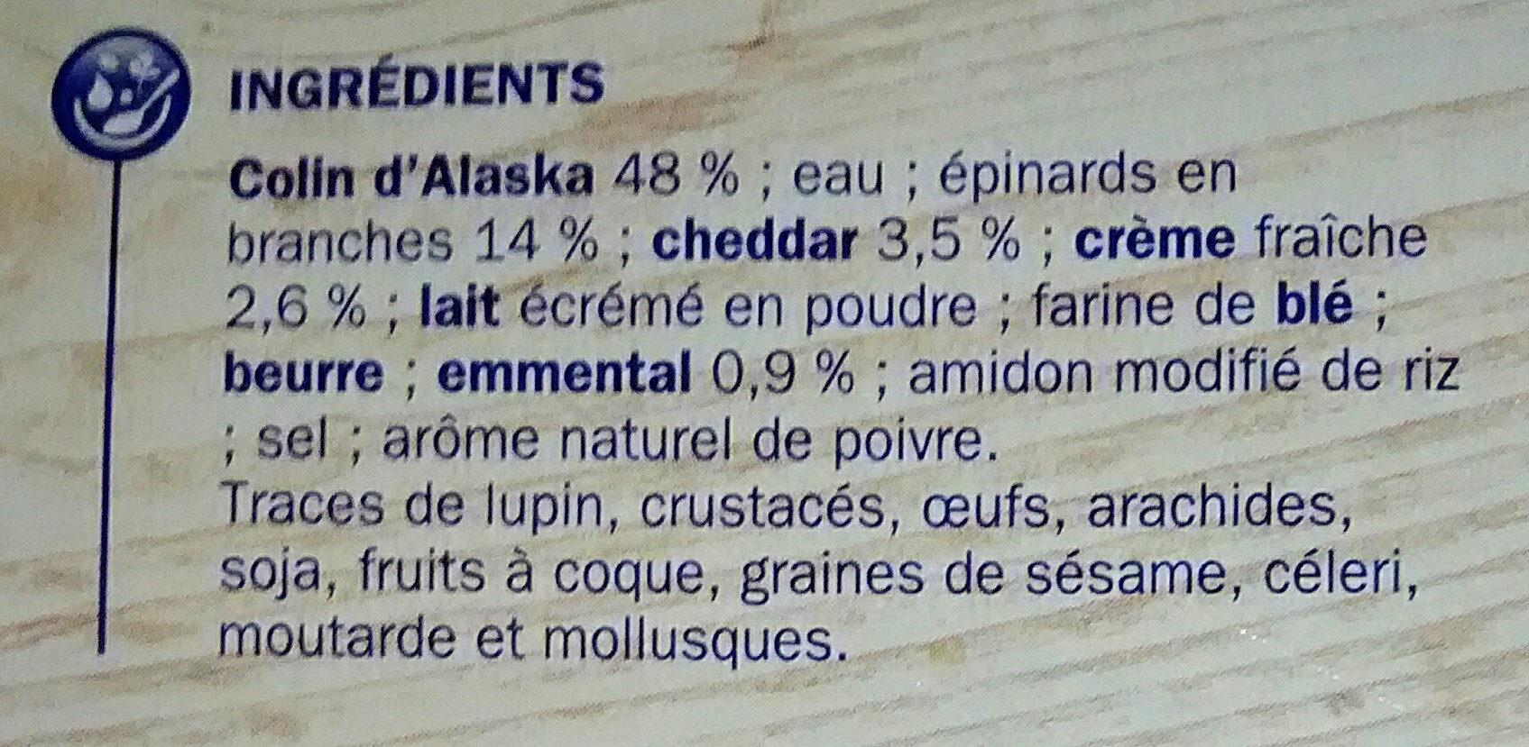 Colin d'Alaska à la Florentine - Ingrediënten - fr