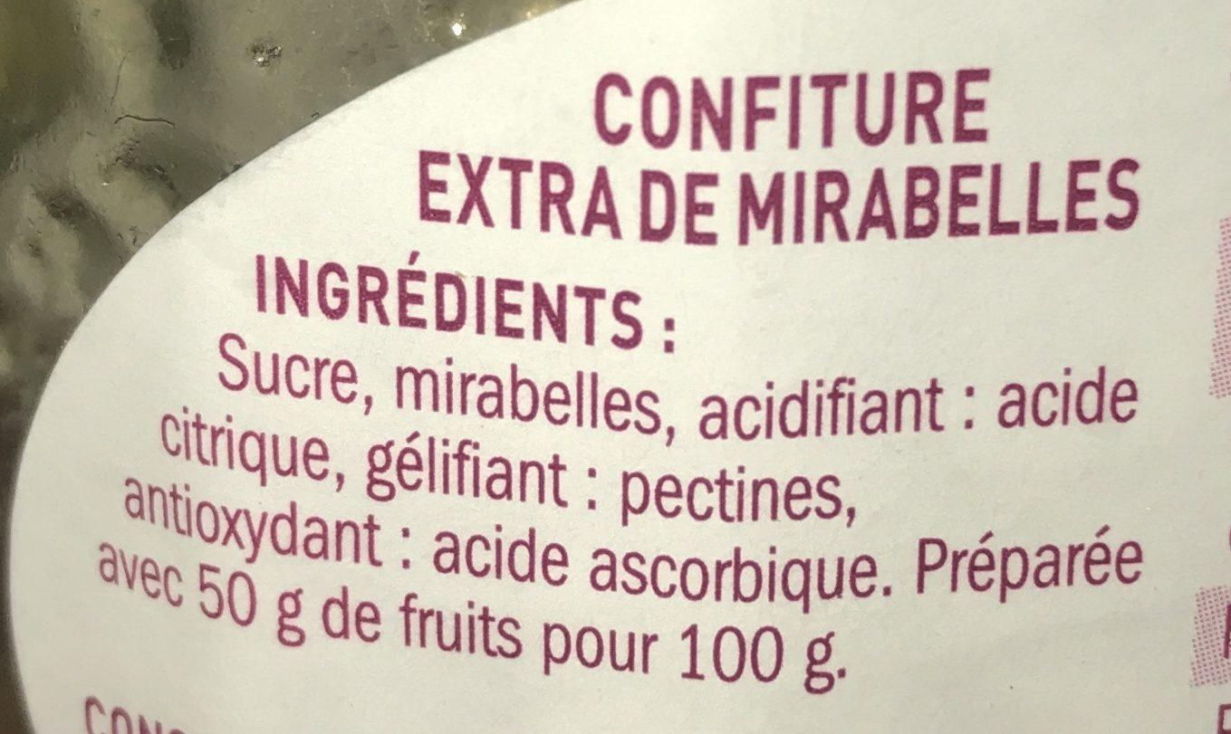 Confiture extra mirabelle mamie douceur 370 g - Acide citrique leclerc ...