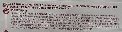 Pizza jambon champignon - Ingrédients - fr