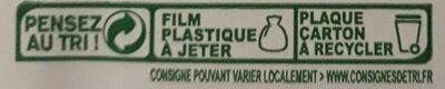 Pizza jambon champignon - Instruction de recyclage et/ou information d'emballage - fr