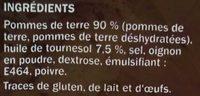 Les Rösti Nature - Ingredients