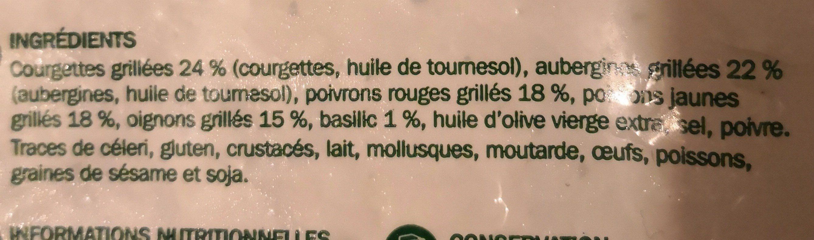 Poêlée de légumes grillés - Ingredienti - fr