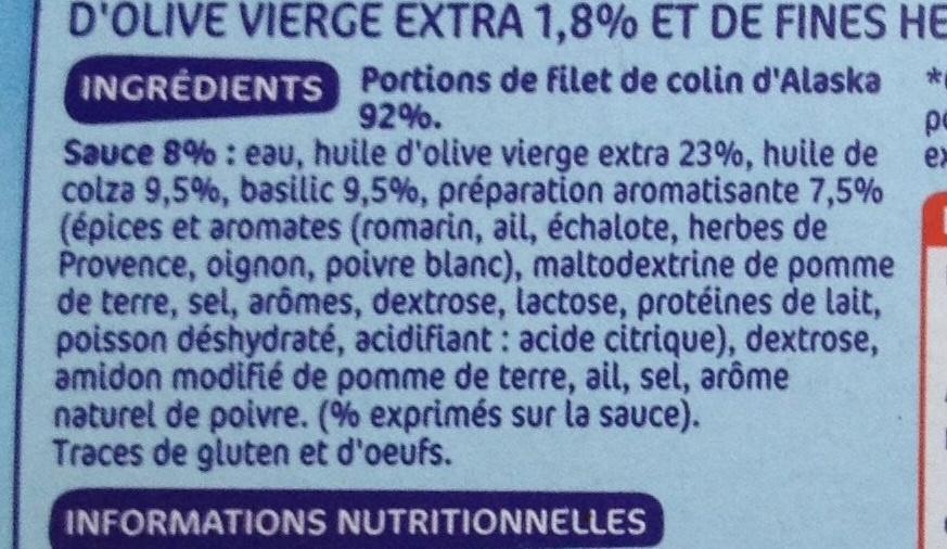 Colin herbes et huile d'olive x 2 - Ingrediënten - fr