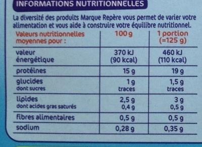 Colin herbes et huile d'olive x 2 - Voedingswaarden - fr