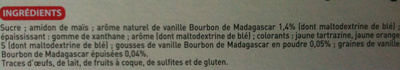 Crème Anglaise (Vanille Bourbon de Madagascar) - Ingredients