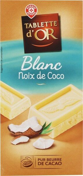 Chocolat blanc à la noix de coco - Prodotto - fr