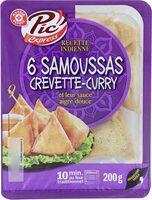 Samoussas crevette curry x 6 - Produit