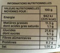 Samoussas crevette curry x 6 - Informations nutritionnelles