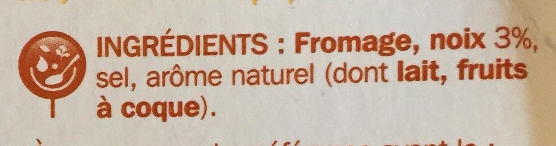 Fromage à tartiner noix 25% - Ingrédients - fr