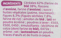 Biscuits petit déjeuner à la figue - Ingrédients - fr