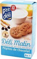 Biscuits petit déjeuner Déli-Matin allégé pépites de chocolat - Produit - fr