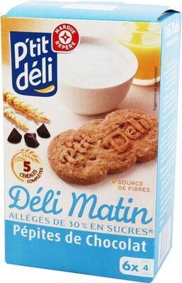 Biscuits petit déjeuner Déli-Matin allégé pépites de chocolat - Produit