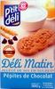 Déli Matin allégé de 30% en sucres aux pépites de chocolat - Produit