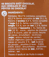 Biscuits chocolat céréales - Ingredients - fr