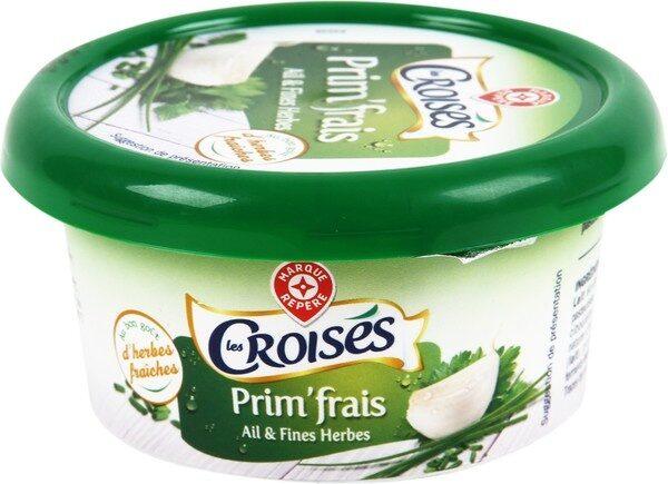 Fromage à tartiner ail et fines herbes 24%mg - Produit - fr