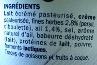 Fromage à tartiner ail et fines herbes 24%mg - Ingrédients - fr