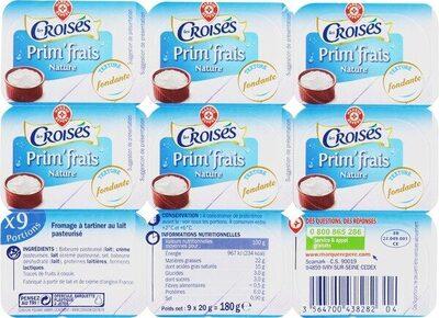 Fromage frais nature mini portions 25% Mat. Gr. - Produit - fr