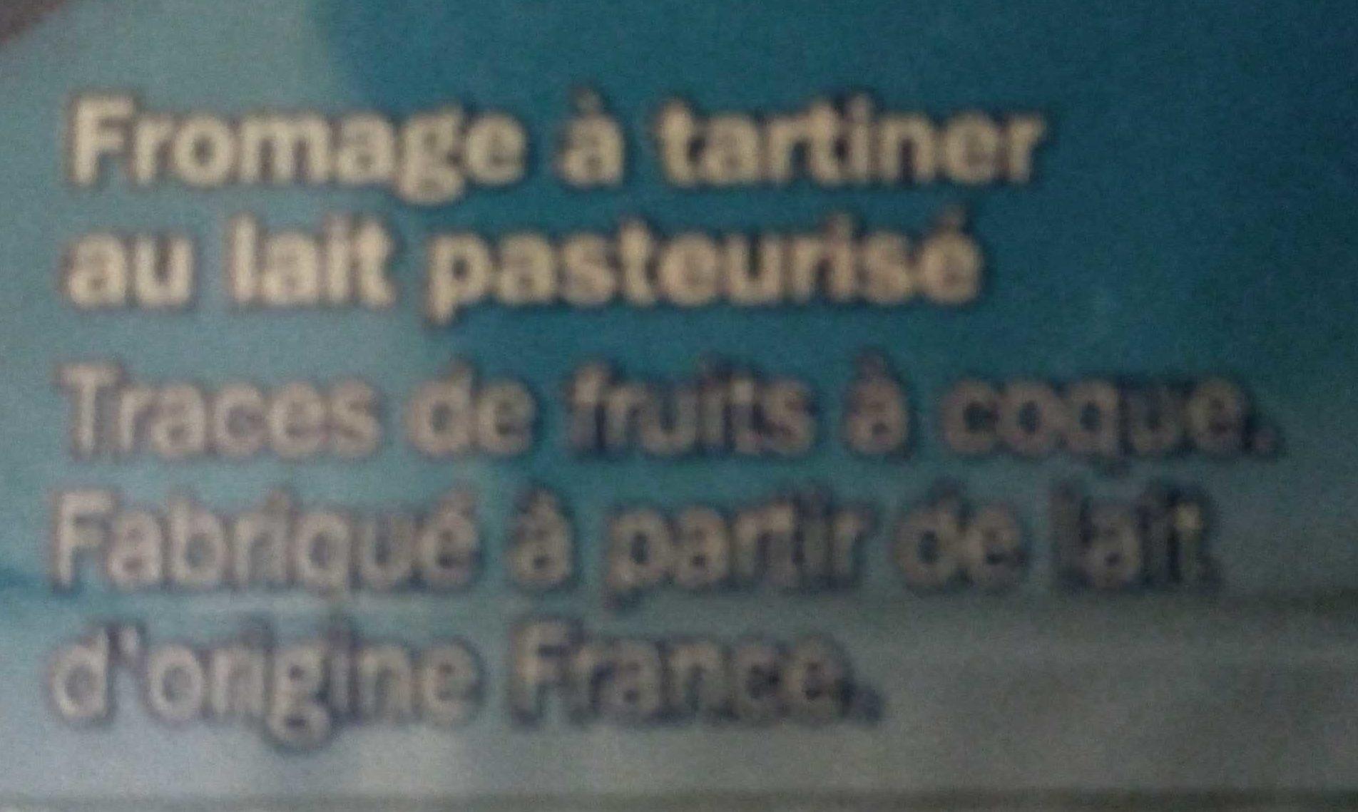 Fromage frais nature mini portions 25% Mat. Gr. - Ingrédients - fr