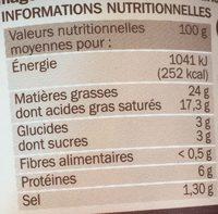 Fromage à tartiner poivre 25% - Voedigswaarden