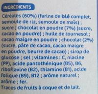 Céréales Croustillantes au chocolat - Ingrédients - fr