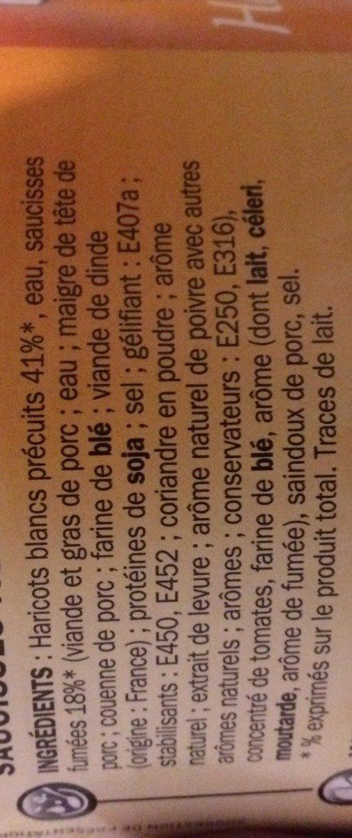 Saucisses aux haricots blancs - Ingredients - fr