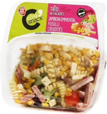 Salade jambon emmental crudités - Product - fr