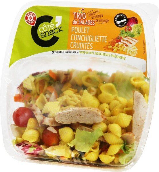 Salade poulet pennes crudités - Produit - fr