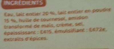 Sauce Béchamel - Ingrédients