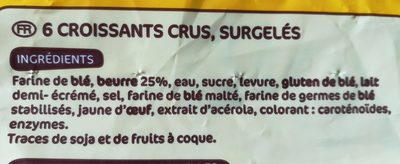Croissants pur beurre x6 - Ingredients