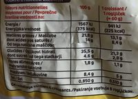 Croissants pur beurre x6 - Nutrition facts