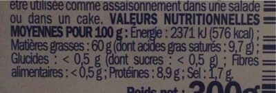 Dés de fromage au lait de vache pasteurisé dans l'huile 29% Mat. Gr. - Valori nutrizionali - fr