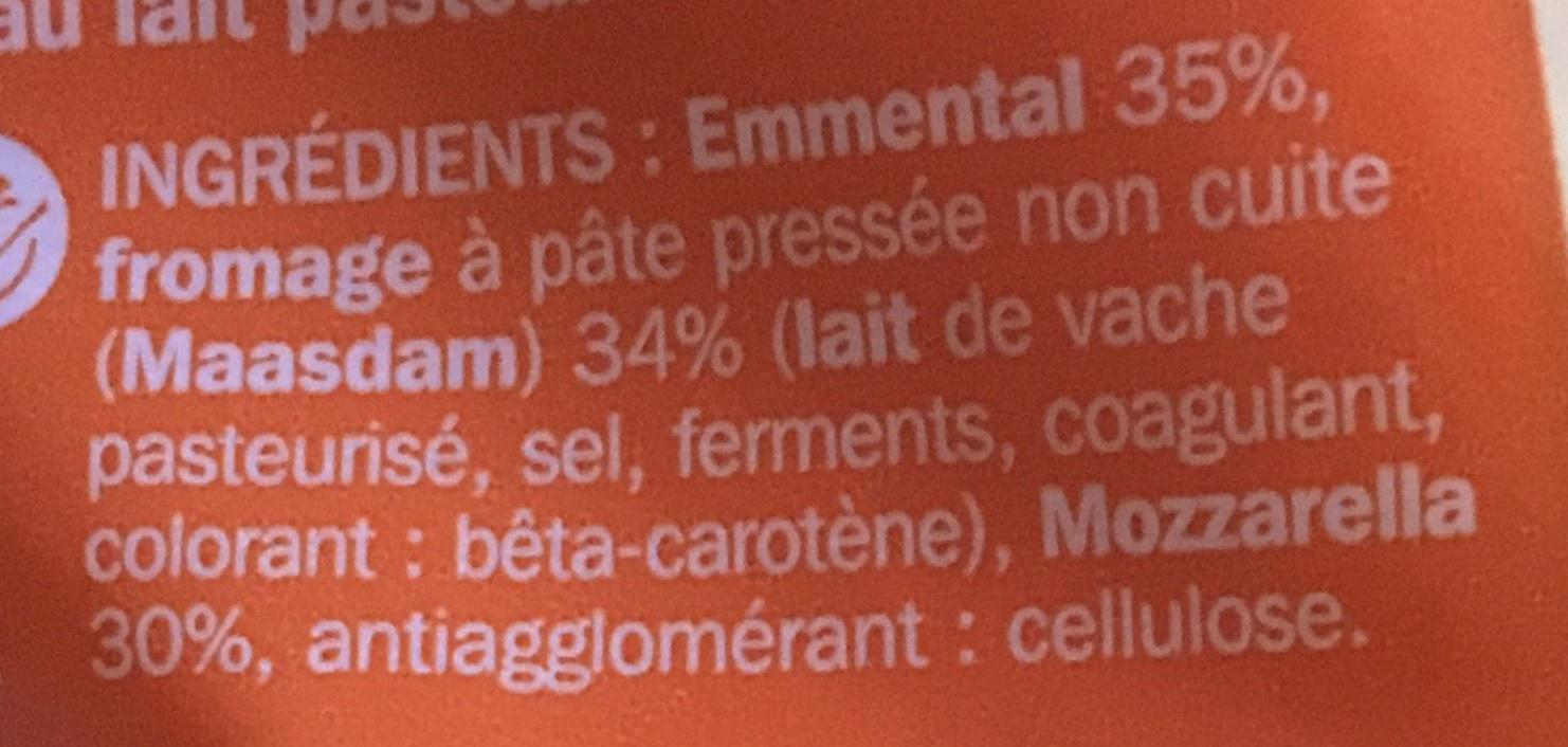 Rapé aux 3 fromages 27 % Mat.Gr. - Ingrediënten - fr