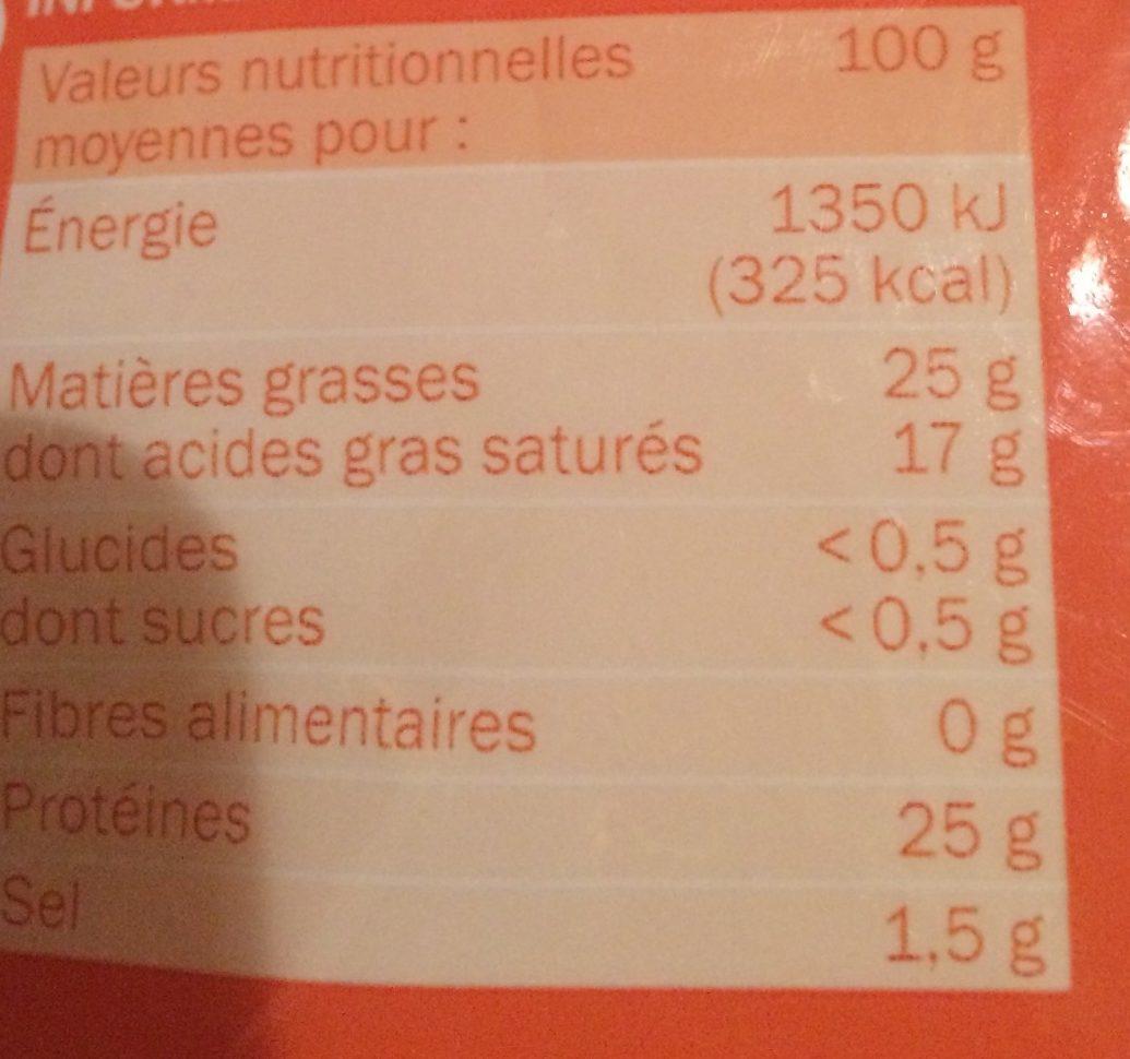 Rapé aux 3 fromages 27 % Mat.Gr. - Voedingswaarden - fr