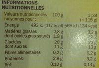 Riz au lait saveur vanille - Nutrition facts - fr