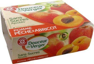 Compote pomme-pêche-abricot sans sucres ajoutés - Produit - fr