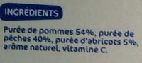 Compote pomme-pêche-abricot sans sucres ajoutés - Ingrédients - fr