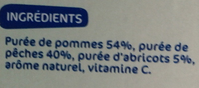 Compote pomme-pêche-abricot sans sucres ajoutés - Ingrédients