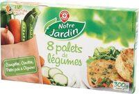 Palets de légumes courgettes / carottes / petits pois / oignons x 8 - Produkt - fr