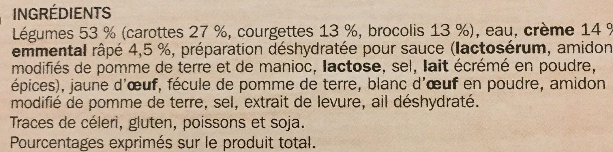 Mini gratins aux 3 légumes x 4 - Ingrédients - fr