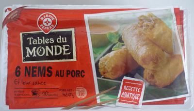 6 Nems au Porc et leur sauce - Produit - fr